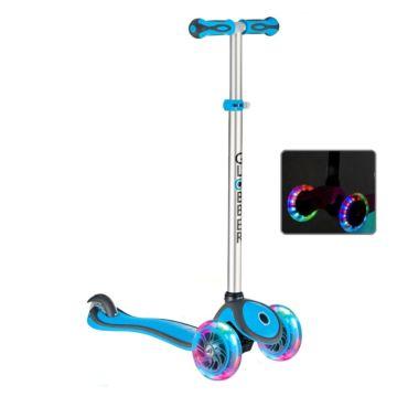 Самокат Globber Primo Plus с 3-мя светящимися колесами (cyan blue)