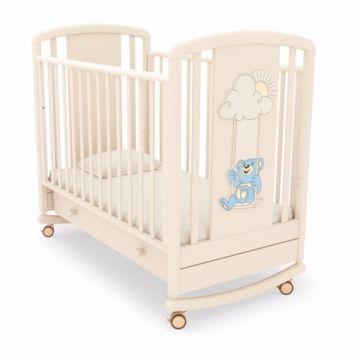 Кроватка детская Angela Bella Жаклин Мишка на качелях (качалка-колесо) (слоновая кость 2)