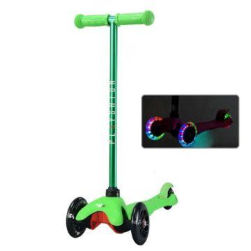 Самокат Playshion Mini Kids FS-MS001L со светящимися колёсами (Зеленый)
