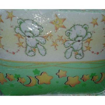 Комплект постельного белья Happy Dreams Мишки со звездами 120х60см (7 предметов, хлопок) (зеленый)