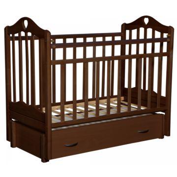 Кроватка детская Антел Каролина 6 (продольный маятник) венге