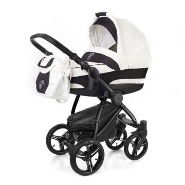 Коляска 2 в 1 Esspero Newborn Lux Black White