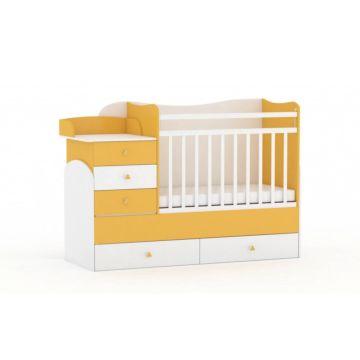 Кровать-трансформер Фея 1400 (Белый-солнечный)