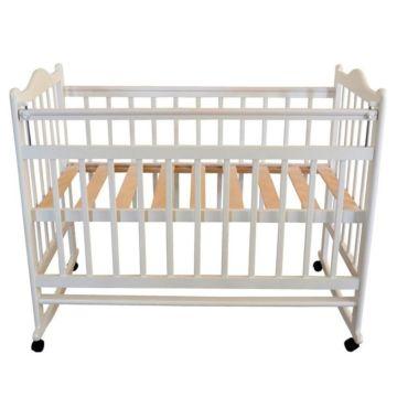 Кроватка детская Briciola 1 (качалка-колесо) (белая)