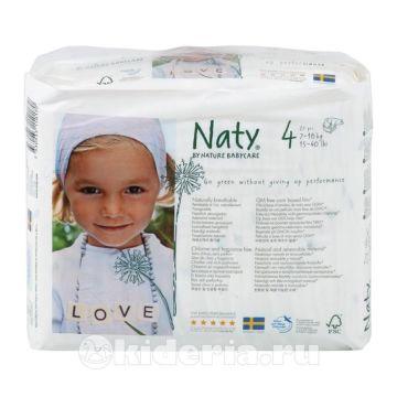Подгузники Naty 4 (7-18 кг) 27 шт