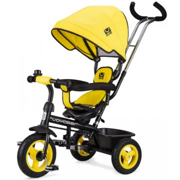 """Трехколесный велосипед Small Rider Voyager 10"""" и 8"""" (желтый)"""