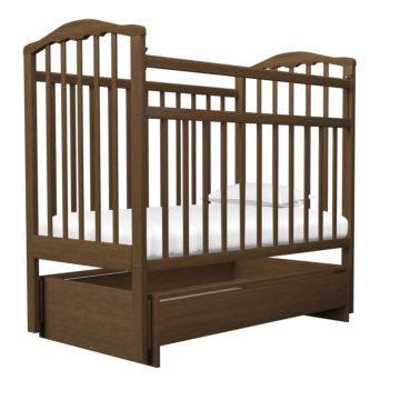 Кроватка детская Агат Золушка-4 (поперечный маятник) с ящиком (Орех)