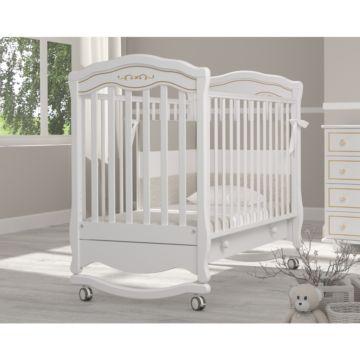 Кроватка детская Гандылян Шарлотта Люкс (качалка-колесо) (белый)