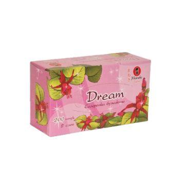 """Салфетки бумажные Maneki """"Dream"""" 2 слоя, 200 шт"""