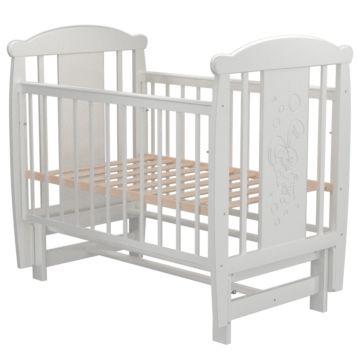 Кроватка детская Valle Bunny с продольным маятником (белый)
