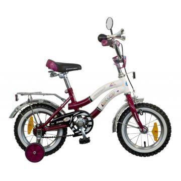 """Детский велосипед NovaTrack Зебра 12"""" (2016) бордово-белый ДИСКОНТ"""