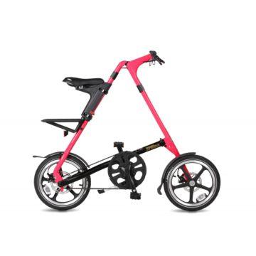 Велосипед складной Strida LT (2017) черно-розовый