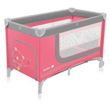 Манеж-кровать Baby Design Holiday (розовый)
