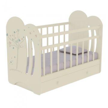 Кроватка детская ВДК Wind Tree (поперечный маятник) (слоновая кость)