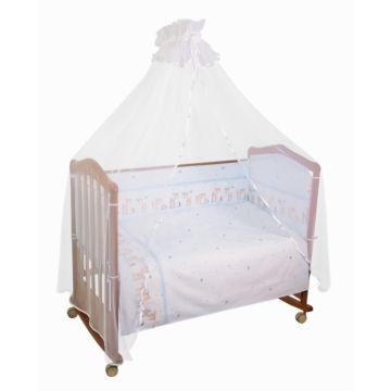 Бампер для кроватки Сонный Гномик Оленята (голубой)