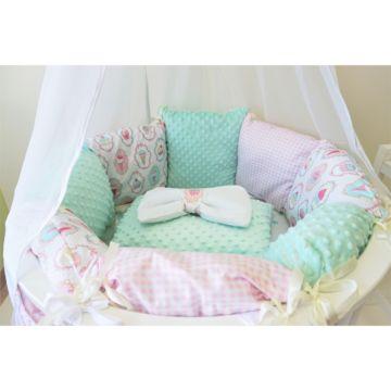 Комплект постельного белья Sleep and Smile (11 предметов, хлопок) (мороженое)
