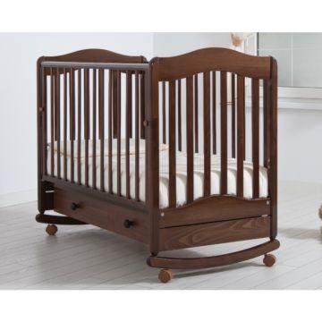 Кроватка детская Гандылян Ванечка (качалка-колесо) (орех)