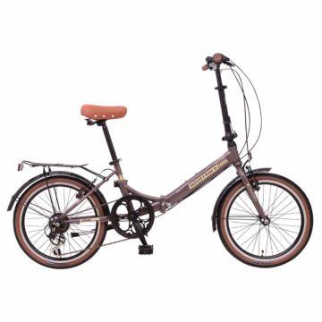 """Велосипед складной Novatrack Aurora Shimano 20"""" (2016) коричневый"""