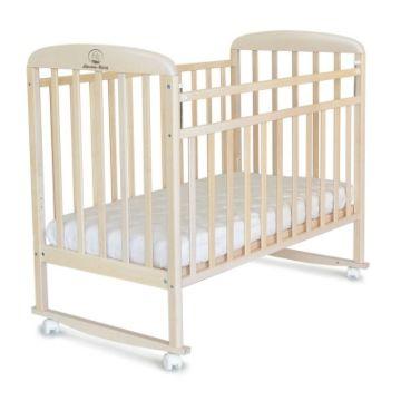 Кроватка детская Альма-Няня Милана (качалка-колесо) (береза)