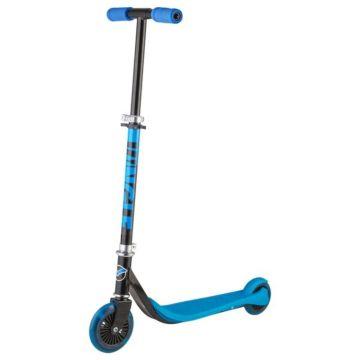 Самокат Novatrack Jungle со светящимся передним колесом (синий)