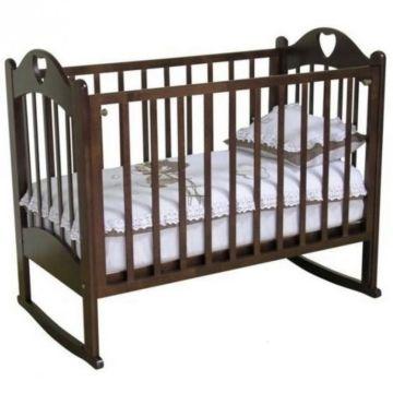 Кроватка детская Можга Любаша (качалка-колесо) (шоколад)
