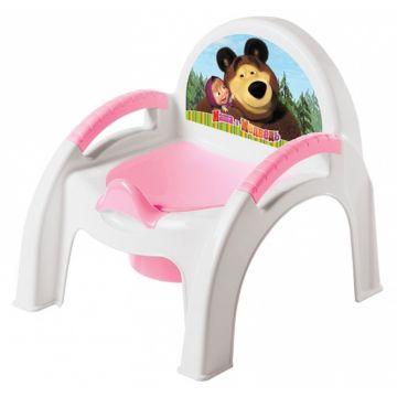 Горшок-стульчик Бытпласт Маша и Медведь (Розовый)