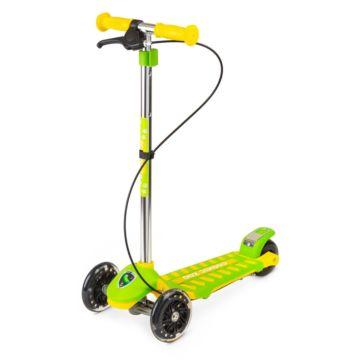 Самокат Small Rider Cosmic Zoo Galaxy Maxi со светящимися колесами+Чехол-органайзер (Зелёный)