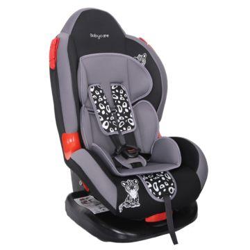 Автокресло Baby Care BC-02 Леопардик Люкс (серый)