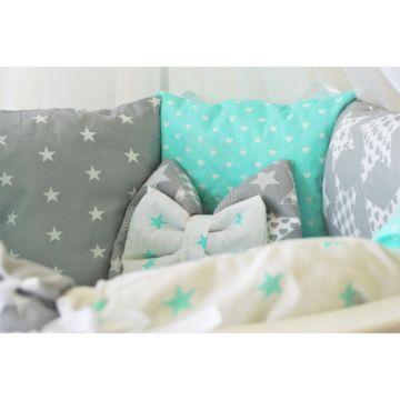 Комплект постельного белья Sleep and Smile (11 предметов, хлопок) (звездная ночь)