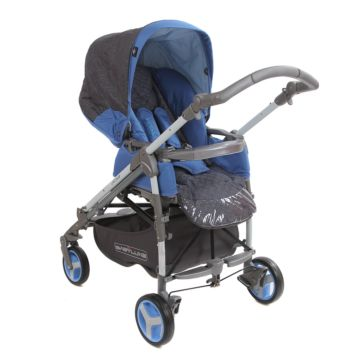 Коляска прогулочная Babylux Carita 205S (4 колеса) (blue)