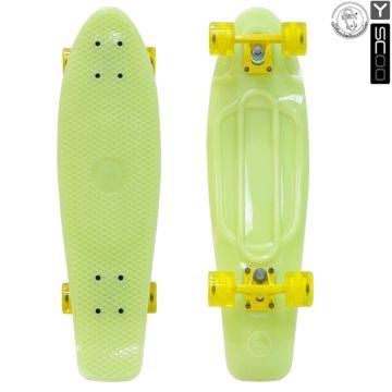 "Мини-круизер Y-Scoo Fish Skateboard Glow 27"" со светящейся платформой и сумкой (yellow)"