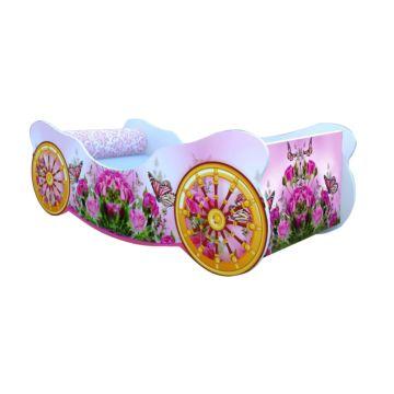 Кровать-карета Кроватка5 (Розы с бабочкой)