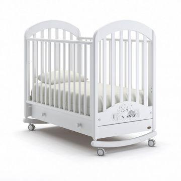 Кроватка детская Nuovita Grano Swing (качалка-колесо) (белый)