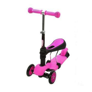Самокат-каталка Y-bike Glider Seat (розовый)