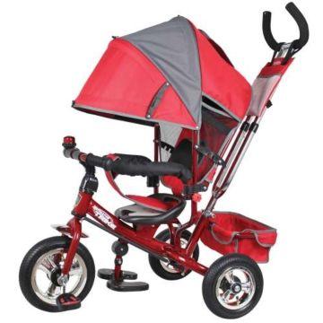 """Трехколесный велосипед Navigator Lexus с надувными колесами 10"""" и 8"""" (красный)"""