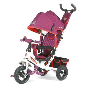 """Трехколесный велосипед TechTeam 950D-AT с надувными колесами 10"""" и 8"""" (розовый)"""