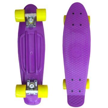 Мини-круизер EcoBalance (фиолетовый-желтый)