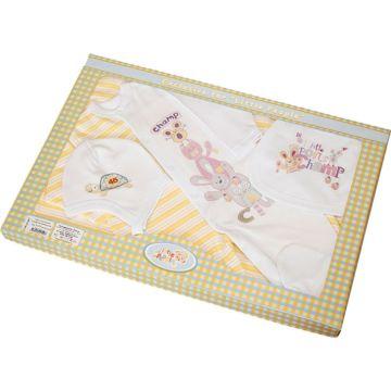 Комплект одежды для малыша Little People с комбинезоном 6 пр. (желтый)