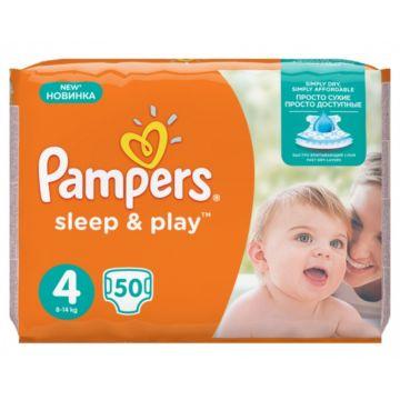 Подгузники Pampers Sleep&Play Maxi (8-14 кг) Ромашка 50 шт