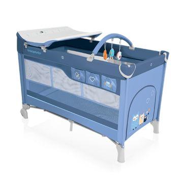 Манеж-кровать Baby Design Dream (синий)