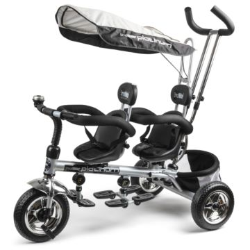 Трехколесный велосипед для двойни Small Rider Platinum ALT (платина)