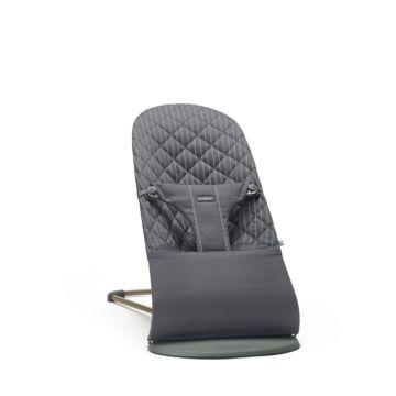 Кресло-шезлонг BabyBjorn Bliss Cotton Limited Edition (Серый/пинстрайп)