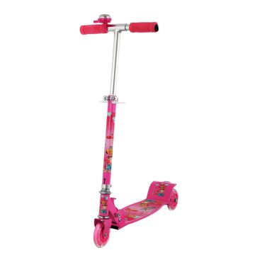 Самокат MaxCity Bell со светящимися колесами (pink)