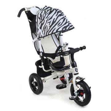 """Трехколесный велосипед Mini Trike Zoo с надувными колесами 12"""" и 10"""" (зебра)"""