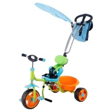 """Трехколесный велосипед Jetem Chopper с ПВХ-колесами 10"""" и 8"""" (зеленый)"""