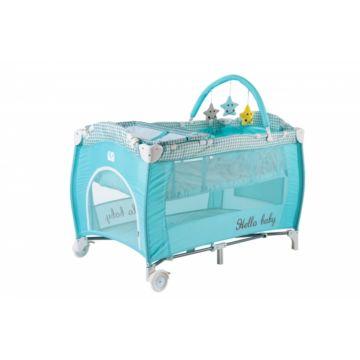 Манеж-кровать Amalfy HB-12 с пеленальной доской (Aqua)