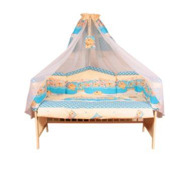 Комплект постельного белья Луняшки Теремок 150х110см (7 предметов, хлопок) (бежевый)