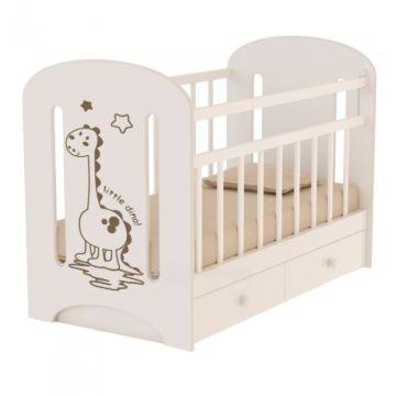 Кроватка детская ВДК Dino (поперечный маятник) (слоновая кость)