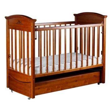 Кроватка детская Birichino Napoleon VIP с продольным маятником (орех)