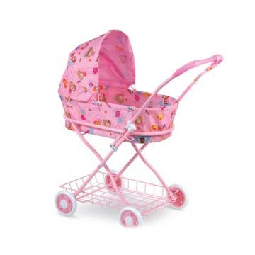 Коляска для куклы Fei Li Toys с сумкой (розовая) FL8127-A